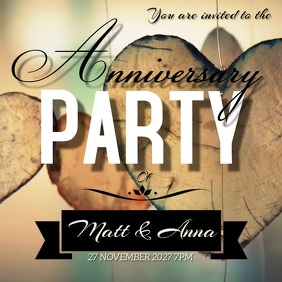 ANNIVERSARY party SOCIAL MEDIA TEMPLATE