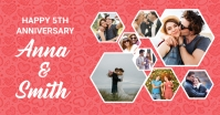 Anniversary Photo Collage Template Facebook Shared Image