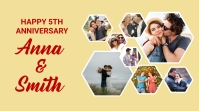 Anniversary Photo Collage Template Twitter Post