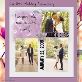 wedding anniversary template