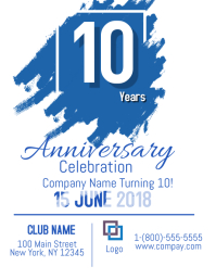 customizable design templates for anniversary celebration event