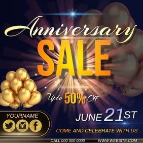 anniversary sale AD INSTAGRAM TEMPLATE