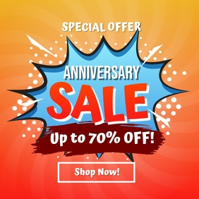 Anniversary Sale Instagram Post Template