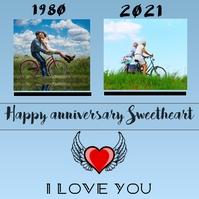 Anniversary template flyer โพสต์บน Instagram