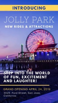 Announcing New Amusement Park Advertisement