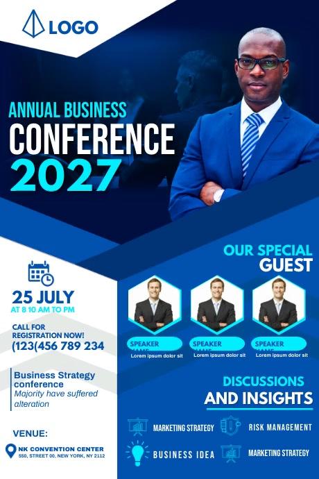 annual business conference Cartel de 4 × 6 pulg. template