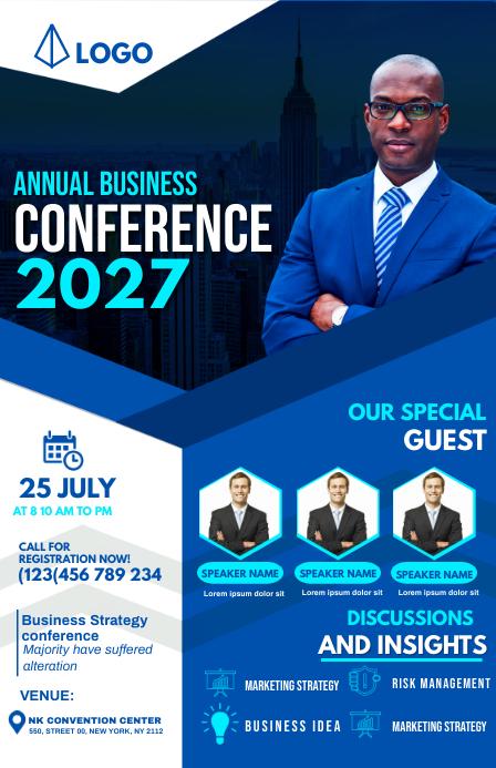 annual business conference Kalahating pahina na Wide template