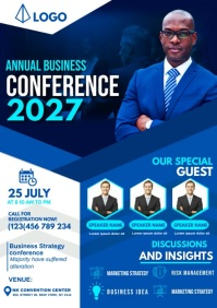 annual business conference A3 template