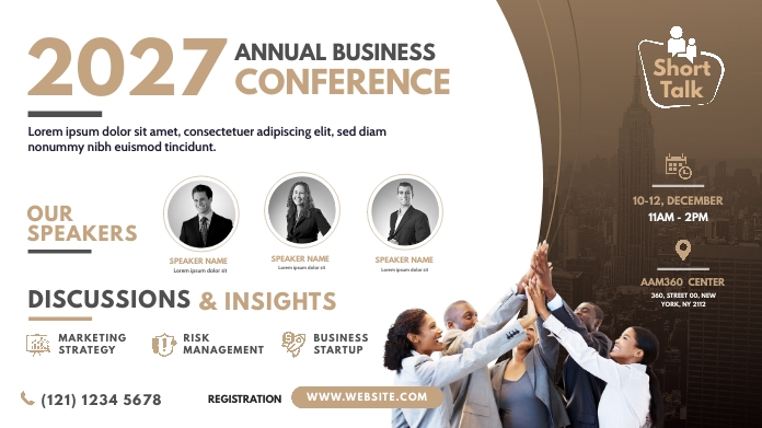 Annual Business Conference Post di Twitter template