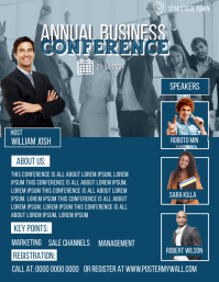 Annual Business Conference Flyer Poster Templ Løbeseddel (US Letter) template