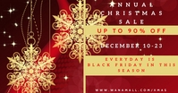 Annual Christmas Sale Facebook Shared Image template