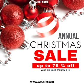 Annual Christmas sale Instagram post