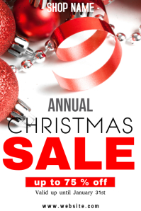 Annual Christmas sale poster Plakkaat template
