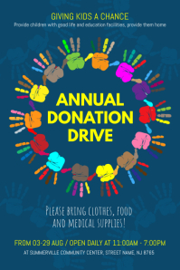Great Annual Donation Drive Poster Idea Donation Flyer Template