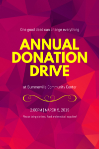 Delightful Annual Donation Drive Poster Inside Donation Flyer Template
