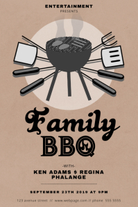 Annual Family Barbecue Event Flyer Template