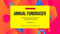 Annual Fundraiser Community Event Video Sampul Facebook (16:9) template