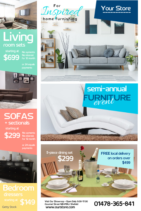 Annual Furniture Event Poster