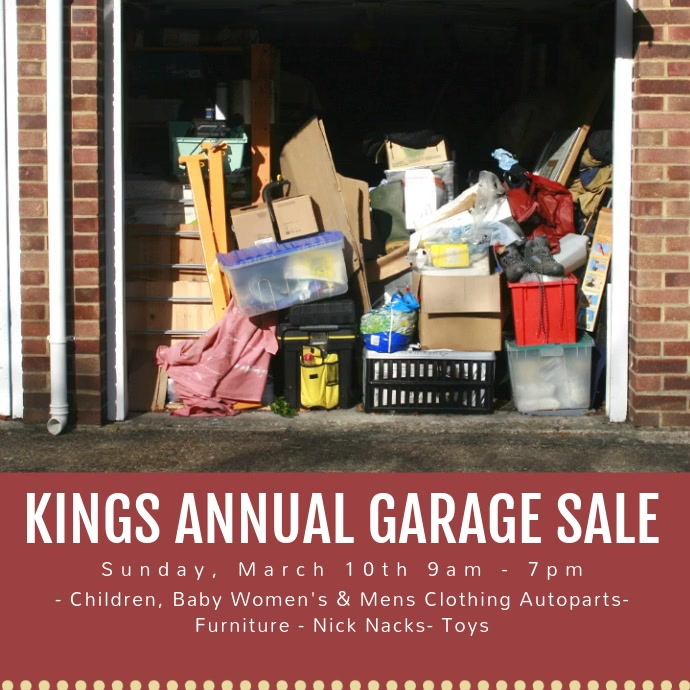 Annual Garage Sale Insta Ad