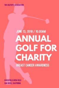 Annual Golf Charity Poster