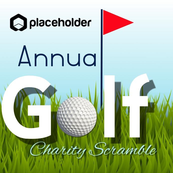Annual Golf Scramble Logo template