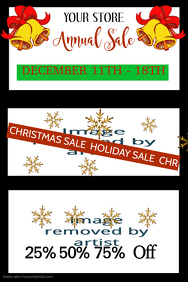 Annual Holiday Sale Poster