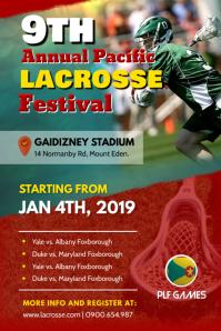 Annual Lacrosse Festival Poster Template