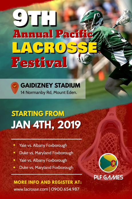 Annual Lacrosse Festival Poster Template