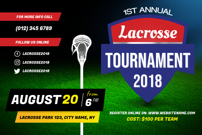 Annual Lacrosse Tournament Poster Template