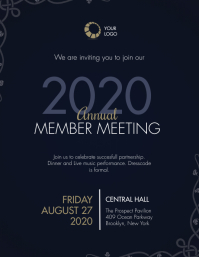 Annual Member Meeting Invitation Template Flyer (US Letter)