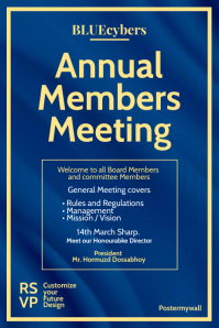 Annual Member Meeting Poster Template Póster