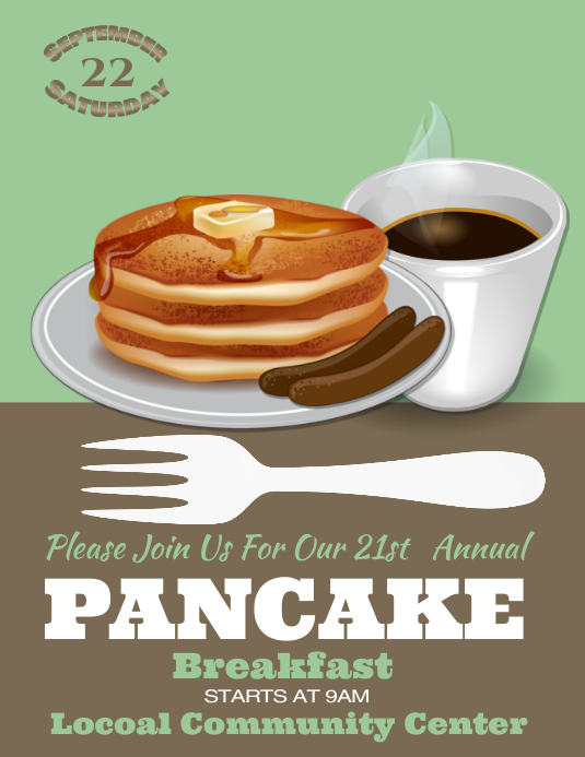 Pancake Breakfast Fundraiser Flyer Template  ToreTrackboxCo