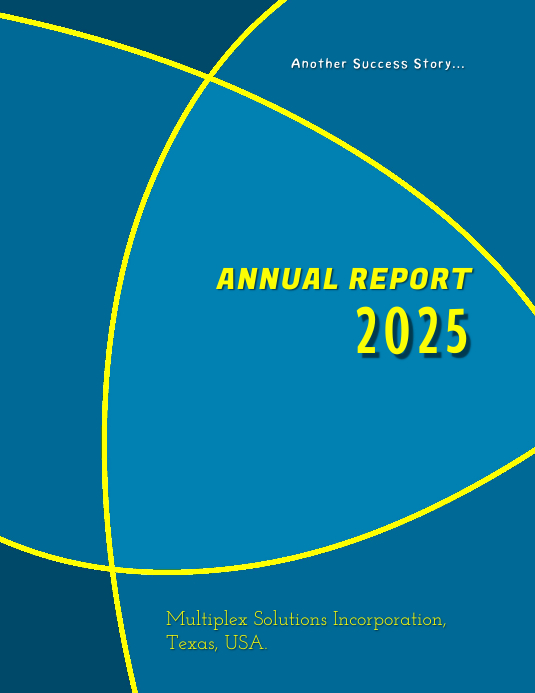 Annual Report 2025 Flyer (US-Letter) template