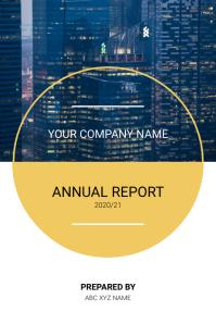 Annual Report / Corporate Annual Report Cover โปสเตอร์ template