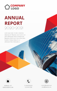 Annual report cover design corporate annual r Kindle 封面 template