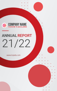 Annual Report Cover Page Template Design Kindle/Book Covers