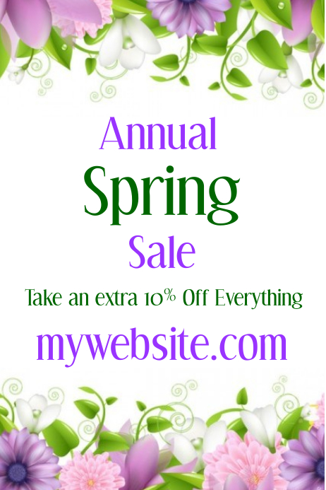 Annual Spring Sale Event Flyer Template Postermywall