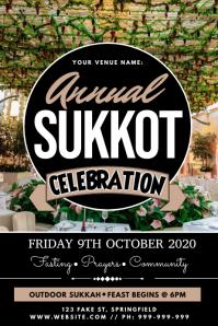 Annual Sukkot Celebration Poster Plakat template