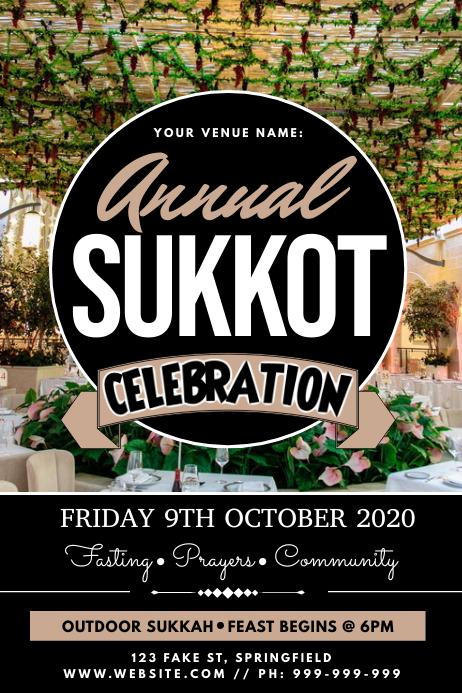Annual Sukkot Celebration Poster template