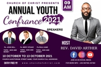 Annual youth confrence Affiche template