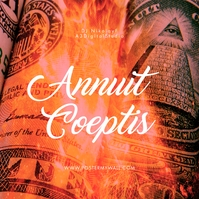 Annuit Coeptis Dollar Pyramid CD Cover Music 专辑封面 template