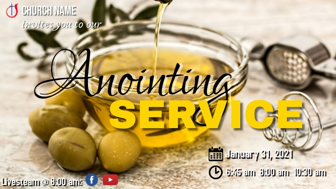 Anointing Service YouTube Duimnael template
