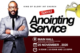 Anointing service flyer Etiqueta template