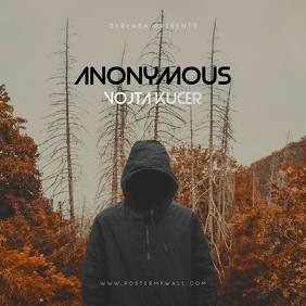 ANONYMOUS CD Cover Art Template Albumcover