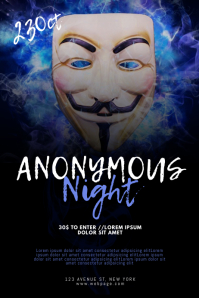 Anonymous party event flyer template