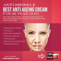 Anti Ageing Cream Ad Pos Instagram template