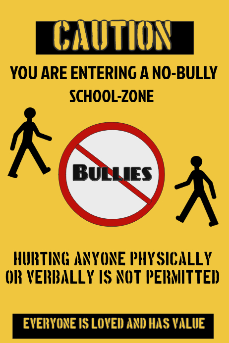 Anti-Bully Poster Template