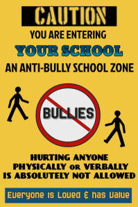 Anti Bully Poster Template