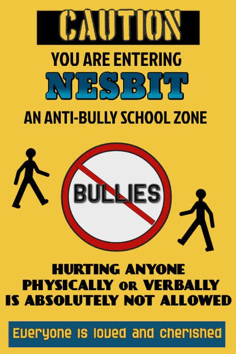 anti bully school poster