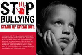 Anti Bullying Black and Red Poster